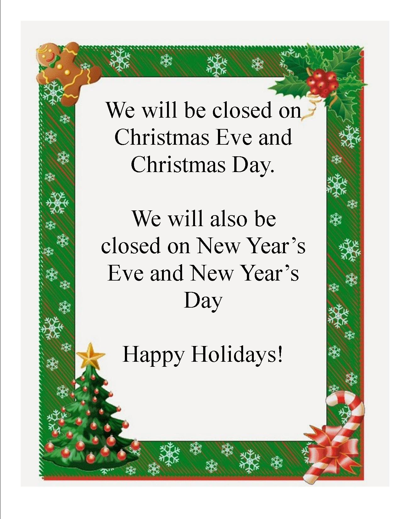 Christmas Closing sign 2014 jpeg | Mayville Public Library
