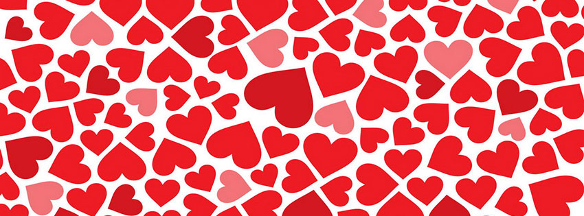 Hearts Valentines Day 2014 Facebook Cover Photo