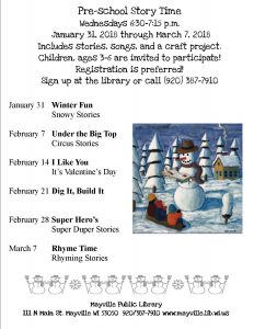 Pre-school Story Time @ Mayville Public Library