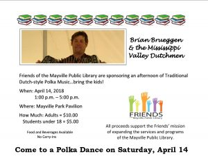 Friends of the Mayville Public Library Polka Dance @ Mayville Park Pavilion