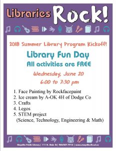 Library Fun Day @ Mayville Public Library