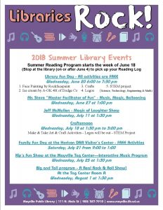 Summer Reading Starts @ Mayville Public Library