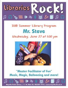 Mr. Steve - Music, Magic, Balloons @ Mayville Public Library