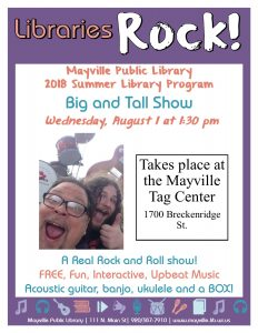 Big & Tall Program - A Real Rock & Roll Show @ Mayville Tag Center