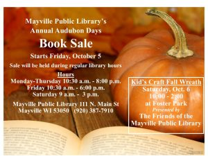 Audubon Days Book Sale @ Mayville Public Library