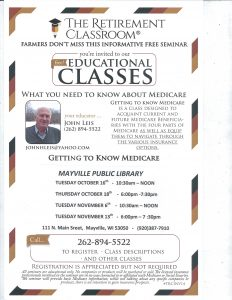 Getting to Know Medicare @ Mayville Public Library