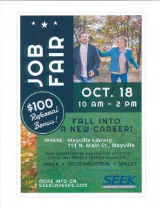 Job Fair @ Mayville Public Library