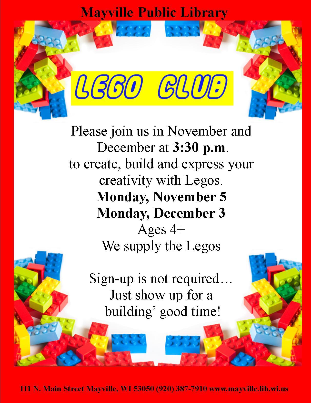 Lego Club Mayville Public Library