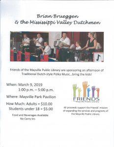 Friends of Mayville Public Library Polka Dance @ Mayville Park Pavilion